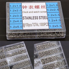 1000pcs SMALL MICRO SCREWS Stainless Steel MIXED SIZES GLASSES WATCHES SCREW SS