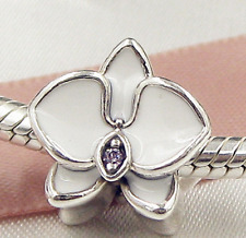WHITE ORCHIDS .925 Sterling Silver European Charm Bead R2