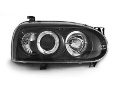 Paire de feux phares VW Golf 3 91-97 angel eyes noir VW04