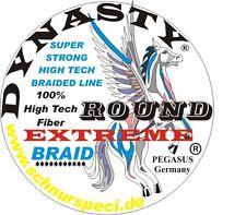 Rund Geflochtene Angelschnur 100 % Dynasty Extreme braun 1000m 0,18mm 1m/0,049€