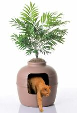 Good Pet Stuff Plant Hidden Cat Litter Box Large-Capacity Durable Polypropylene