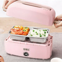 Portable heating lunch box double layer electric heating lunch box insulat MW