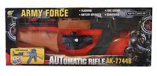 Kids Army Force Automatic Rifle AK-7744B Flashing Fire & Sound