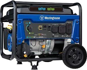 Westinghouse WGen5300DFcv 6,500-W Portable RV Ready Dual Fuel Powered Generator