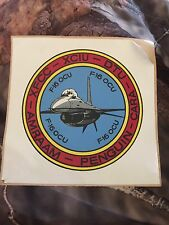 19096 - Vintage F-16 Fighter OCU DECAL - From A Test Pilots Estate