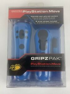 Mad Catz Move Gripz Pak for PS3 Controller Blue Comfortable Protective Cover