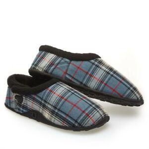 Homeys Mens Fin Blue Grey Slippers NEW