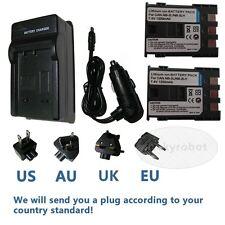 2x Batterie NB-2LH + Chargeur Pour Canon EOS 350D 400D Rebel XT Num Rebel XTi