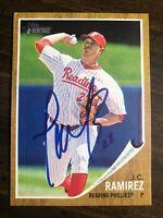 2011 Topps Heritage Minors J.C. Ramirez #192 RC Auto Signed Autograph Phillies
