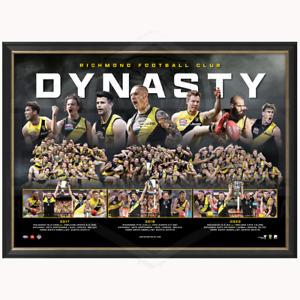 Richmond Dynasty AFL Premiers 2017, 2019 & 2020 Official Print Framed MARTIN