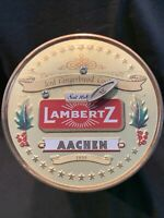 "Lambertz Aachen German Cookie Tin W/ Music Box 1999 ""Greensleeves"" Christmas"