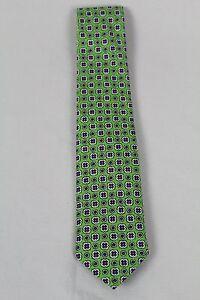 Polo Ralph Lauren Blue Label Green Purple Italy Silk Neck Tie