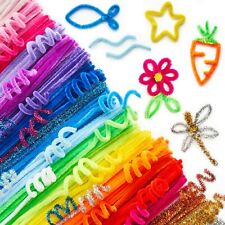 ARTEZA Chenille Stems, Set of 650 Coloured Sparkle Pipe Cleaners for Arts & C...