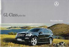 Mercedes-Benz GL-Class 2008 UK Market Specification Brochure 320 420 CDi 500