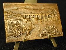 Médaille aqueduc Saint-Nazaire en Royans Drôme Rhône-Alpes par ER 1967 Medal 铜牌