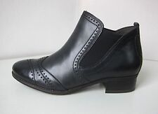 Tamaris Leder Stiefel Stiefelette schwarz 38 ankle boots bootee black classic 2