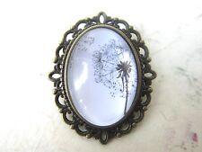 Steampunk Vintage Bronze Plated Dandelion Design Brooch New in Gift Bag