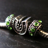 Good Luck Horseshoe European Bead And Birthstones For Charm Bracelets Necklaces