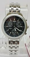 Casio Beside BEL500D-1A Ladies BLACK Stainless Steel Chronograph Dress Watch NEW