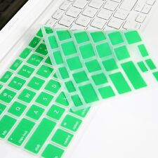 GREEN Silicone Keyboard Cover for Macbook White 13""