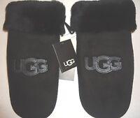 UGG Australia SHEARLING/SHEEPSKIN Logo Mitten,L/XL,Black