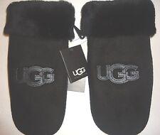 UGG Australia SHEARLING Logo Mitten,L/XL,Black