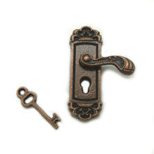 Miniature Right Bronze Door Lock Key Dollhouse Doorknob DIY Accessories K005-R