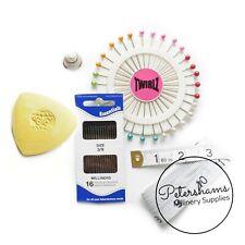 Millinery Essentials Kit - Pins, Chalk, Needles, Tape Measure & Thimble