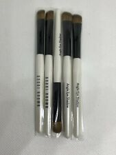 LOT OF 5 BOBBI BROWN MINI TRAVEL ANGLE EYE SHADOW MAKEUP BRUSH NEW