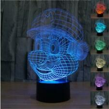Mario 3D Optical Illusion Led Lamp Colors Changing,Can be personalised
