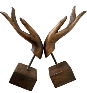 Art Hand Carved Wooden Thai Vintage Handwork  Stand Holder Collectible Gift 2x