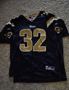 VINTAGE DRE BLY ST. LOUIS RAMS EXTRA LARGE XL NFL REEBOK JERSEY NEW WITH NO TAGS