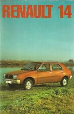 Renault 14 TL 1976-77 UK Market Launch 8pp Sales Brochure