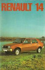 Renault 14 TL 1976-77 UK Market Launch Sales Brochure