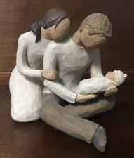 Willow Tree New Life Mother Father and Newborn Baby Figurine Susan Lordi 2000