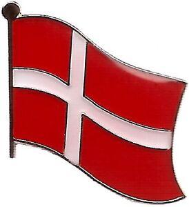 LOT OF 3 Danish Flag Lapel Pins - Denmark Flag Pin