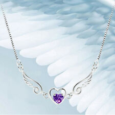 Girls Angel Wing Love Jewelry Pendant Necklace Women Ladies LOVE Gift