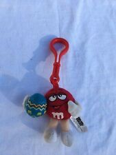M&M Clip On Candy Plush Easter Egg Zipper Pull For Backpack Mars Food Keychain
