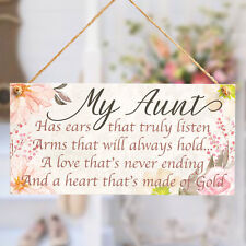 My Aunt Has A Heart thats made of gold - Small Gift Plaque For A Special Auntie