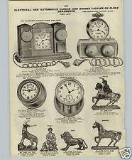 1913 PAPER AD Flashlight Electric Alarm Bank Clock New Haven Car Ayto Negro Face