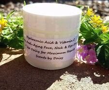 Hyaluronic Acid, Vitamin C - Face, Neck & Eye Cream -Fade Spots, Lines, Wrinkles
