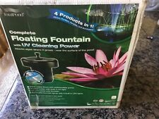 TotalPond floating fountain with Uv cleaning power Mf750Uv - Used / New In Box