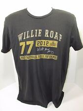2012 NFL WILLIE ROAF #77 HALL OF FAME Signed TShirt Small Small