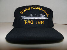 c37fd0a08fa USNS KANAWHA T-AO 196 Military Sealift Commands NAVY Crew Member Snapback  Hat