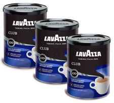 3 x LAVAZZA CLUB Medium Roast Ground Coffee Premium Arabica Tin 250g 8.8oz