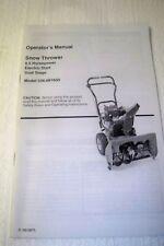 Snow thrower 6.5 HP model 536.881650 owner's manual