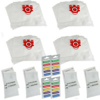 20 x Vacuum Hoover Cloth Dust Bags Air Fresheners & 8 Filters For Miele FJM Type