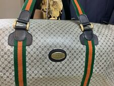 Vintage P. Gucci Italy Duffle Travel Carry On Carryall Bag Mens Collectible