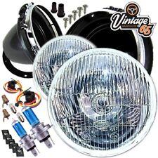 "Classic Mini Headlight & Bowl Kit 7"" Domed Glass With Pilot Cooper Austin Morris"