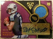 Marcus Mariota 2015 Topps Triple Threads Rookie Auto Relic 13/75 Tenessee Titans